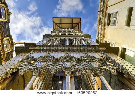 Santa Justa Lift - Lisbon, Portugal