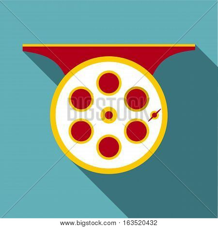 Spinning reel icon. Flat illustration of spinning reel vector icon for web