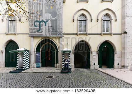 Lisbon, Portugal - November 25, 2016: National Republican Guard Museum in Lisbon Portugal