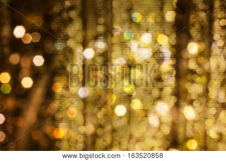 Golden Fancy Bokeh Xmas Or Event Night Light