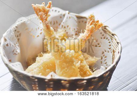 tempura or deep fried shrimp (Japanese food)