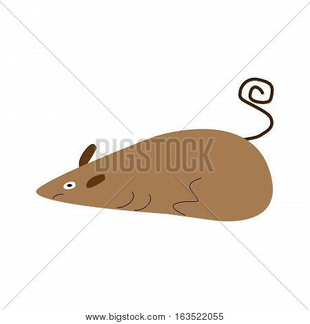 Rat icon cartoon. harmful rodents Vector Illustration with eps 10 on white background