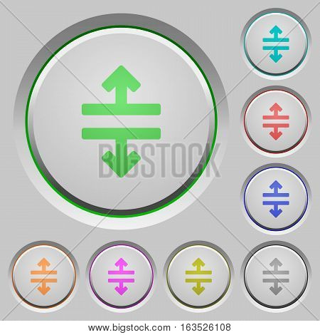 Horizontal split color icons on sunk push buttons