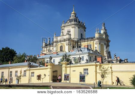 Lviv Ukraine - September 08 2016: St. George's Cathedral in Lviv (Lvov). Built in 1744-1762