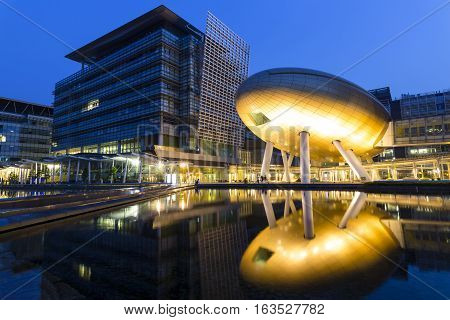 THE CHARLES K. KAO AUDITORIUM, HONG KONG - Jul 31: The Charles K. Kao Auditorium in the Hong Kong Science Park, Hong Kong on Jul 31, 2016. It was built in 2012 and has the shape