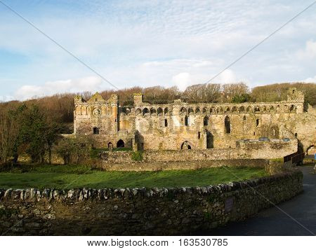 The ruins of the Bishops Palace in St davids, the UK's smallest city