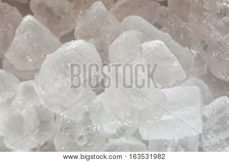 Many small ice cubes blocks in a stack