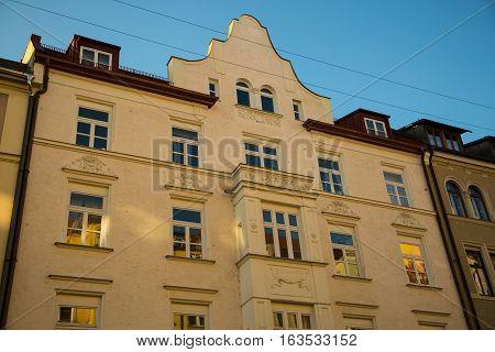 old houses in munich city sendling, bavaria