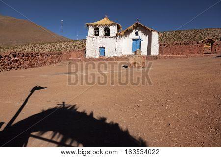 Colonial Church. Atacama Desert. North of Chile
