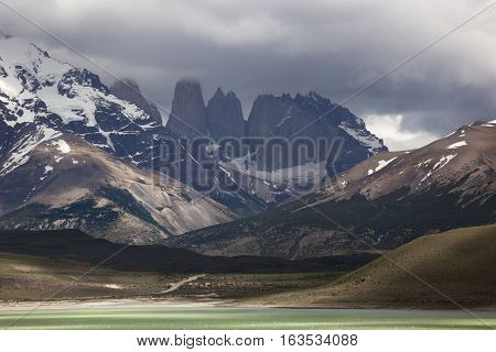 Las Torres National Park Chile. Wild nature
