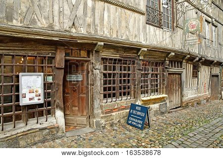 Honfleur France - august 18 2016 : the historical museum