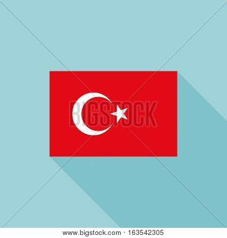 Turkey flag , flat design vector with official proportion