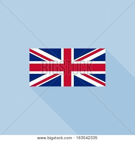 union jack or united kingdom flag, flat design vector with official proportion