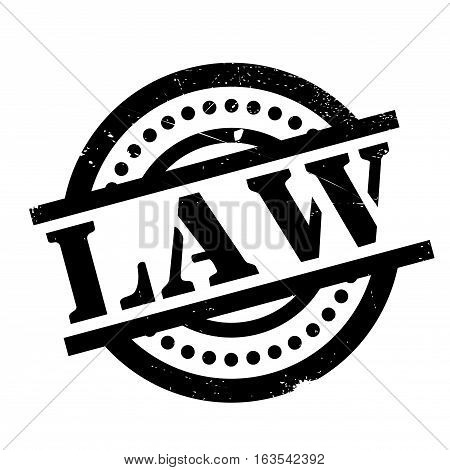 Law rubber stamp. Grunge design with dust scratches. Effects can be easily removed for a clean, crisp look. Color is easily changed.