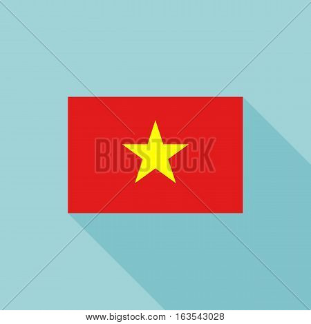 Vietnam flag , flat design vector with official proportion
