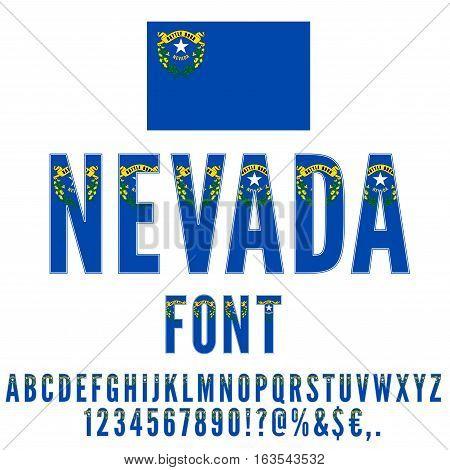 Nevada Usa State Flag Font Vector Photo Bigstock