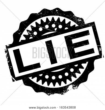 Lie rubber stamp. Grunge design with dust scratches. Effects can be easily removed for a clean, crisp look. Color is easily changed.
