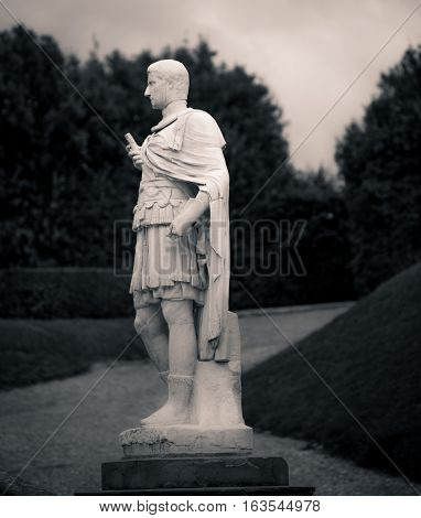 Statue in a park in florence italy