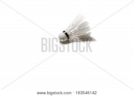 The Old Badminton Shuttlecock on white background
