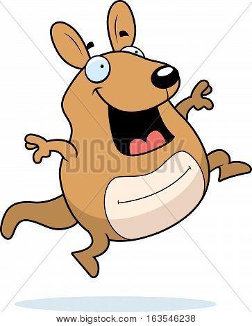 Cartoon Wallaby Jumping