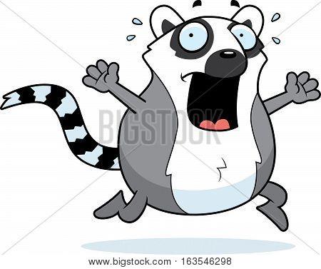 Cartoon Lemur Panic