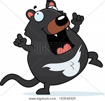 Cartoon Tasmanian Devil Dancing