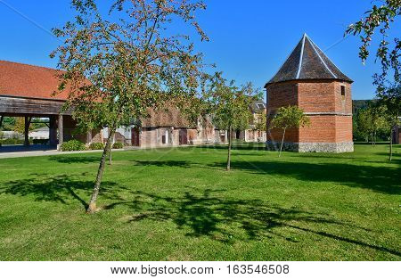 Perriers sur Andelle France - october 4 2016 : the pigeon house of Colmont manor