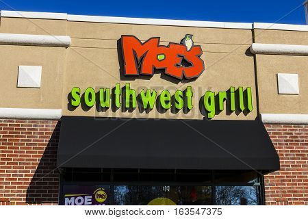 Lafayette - Circa December 2016: Moe's Southwest Grill Fast Casual Restaurant. There are more than 600 locations in the US and abroad I