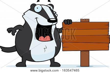 Cartoon Badger Sign