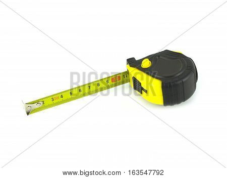 Measuring tool isolated on white background close up