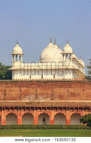 Moti Masjid (pearl Mosque) In Agra Fort, Uttar Pradesh, India