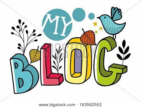 Head image for blog in internet. Vector illustration.