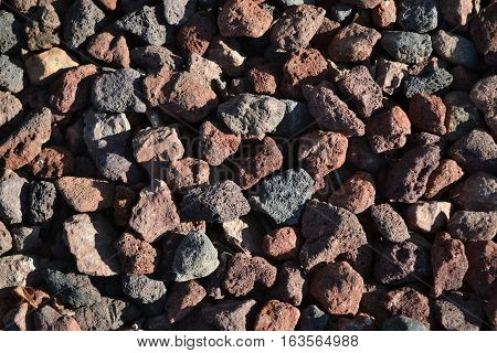 A collection of various colored pumice stones