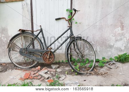 bicycle Antique Broken Old at decay and rust
