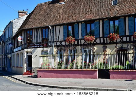 Gournay en Bray France - september 7 2016 : the picturesque city in autumn