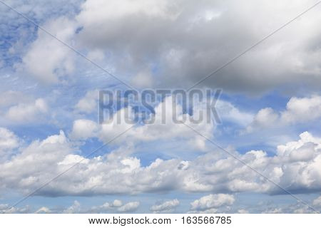 blue sky with big cloud and raincloud art of nature beautiful and copy space for add text