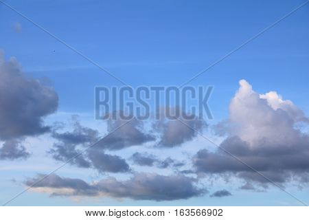blue sky with big cloud and raincloud art of nature beautiful copy space for add text