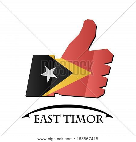 like icon made from the flag of East Timor
