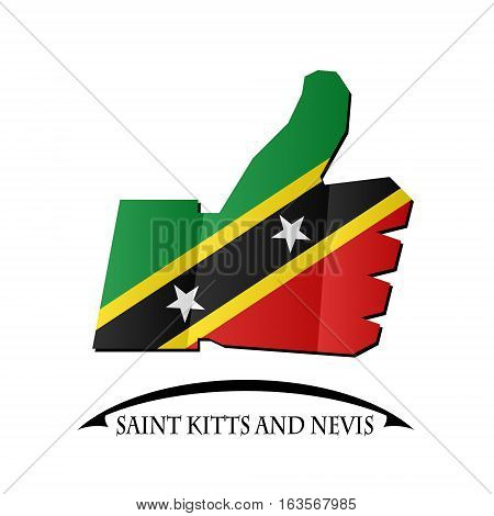 like icon made from the flag of Saint Kitts and Nevis