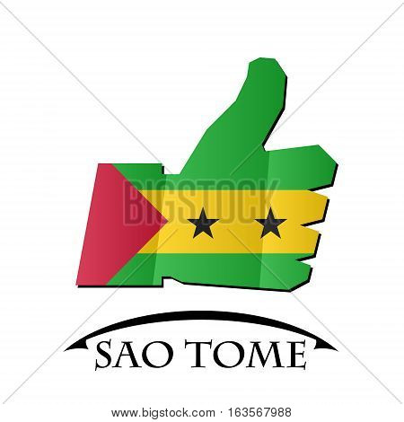 like icon made from the flag of Sao Tome