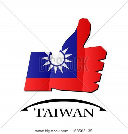 like icon made from the flag of Taiwan