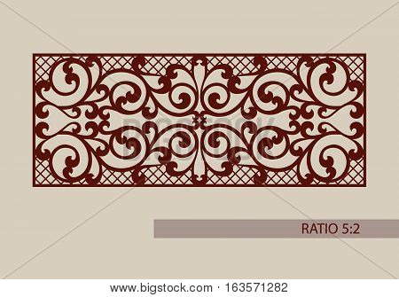 Lace ornament. Template for decorative panels. The image is suitable for printing engraving laser cut paper wood metal stencil making