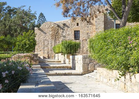 Greece Cyprus Aya Napa the walls of the Monastery (14th century)