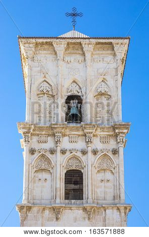 Greece Cyprus Larnaka the St. Lazarus church bell tower