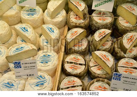 La Flotte France - september 27 2016 : cheese at the market