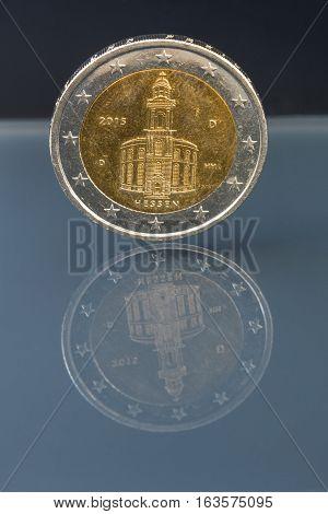 Commemorative 2 Eur Coin; Hessen, Germany