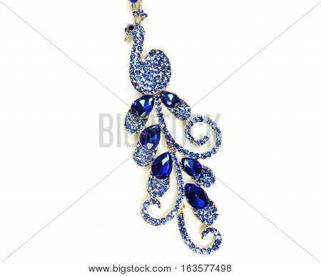 brooch with bright crystals jewellery fashion style