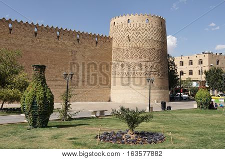 SHIRAZ, IRAN - OCTOBER 7, 2016: Fortress Karim Khan, one of the sights of Shiraz on October 7, 2016 in Iran, Asia