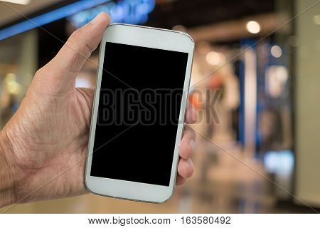 Shopping woman,holding phone with shoping,holding phone with shoping