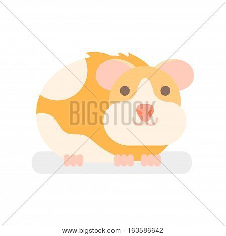 Vector flat style illustration of hamster. Icon for web. Isolated on white background.